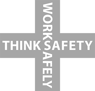 Work Safety Logo - Think Safely, Work Safely