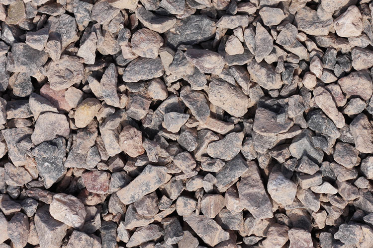 Close up of aggregate - 10-63mm limestone