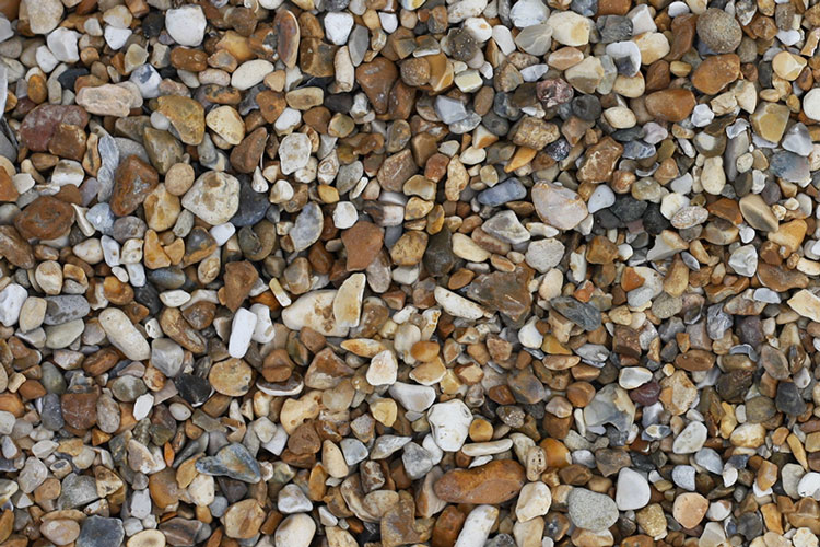 Close up of aggregate - 10mm gravel