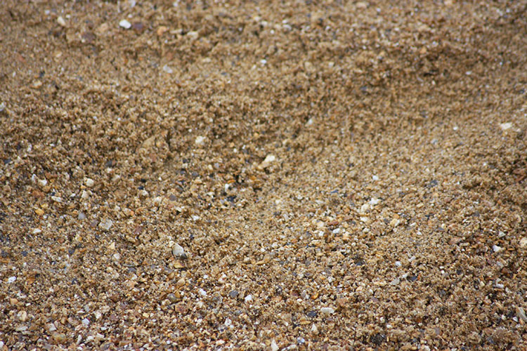 Close up of 4mm sharp sand