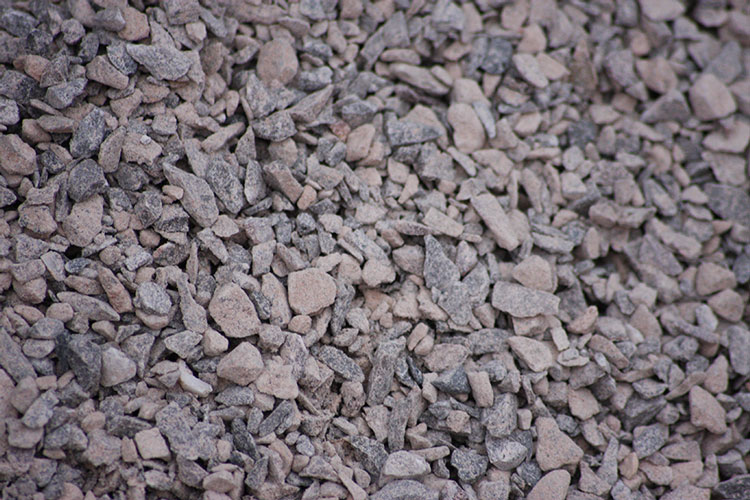 Close up of aggregate - 5-20mm limestone