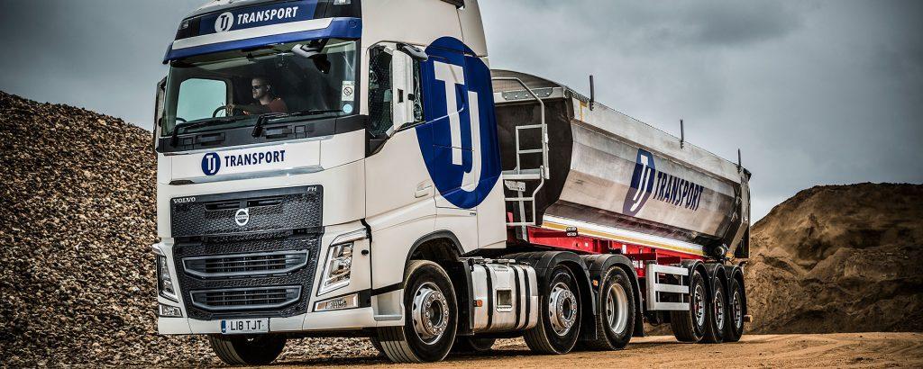 TJ Transport articulated tipper in Southampton
