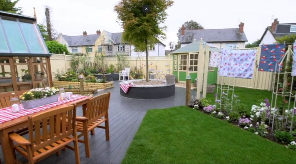 Garden, patio ang gazebo featured on ITV's Love Your Garden