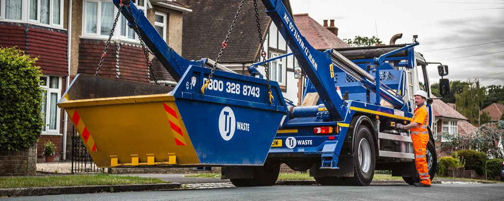 TJ Waste skip hire delivery in Portsmouth