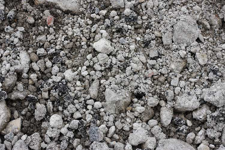 Close up of aggregate - 6F5 crushed concrete