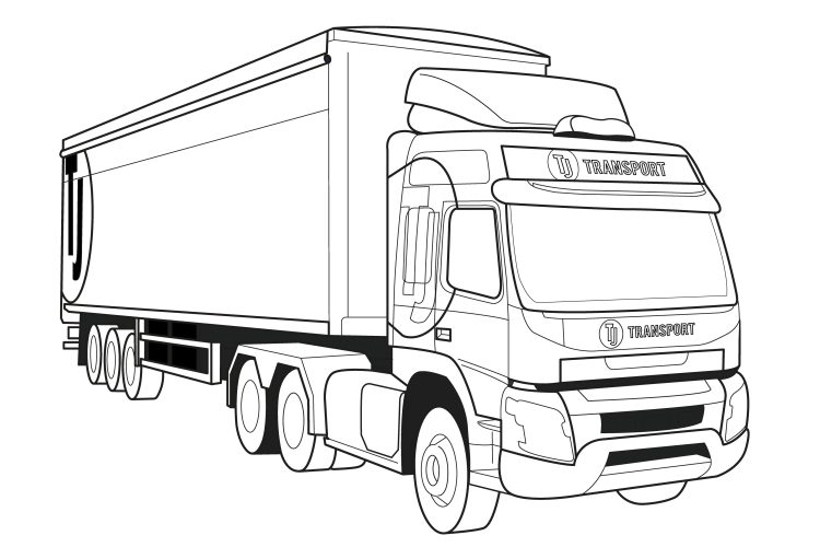 TJ's artic lorry - get colouring kids! - TJ Waste