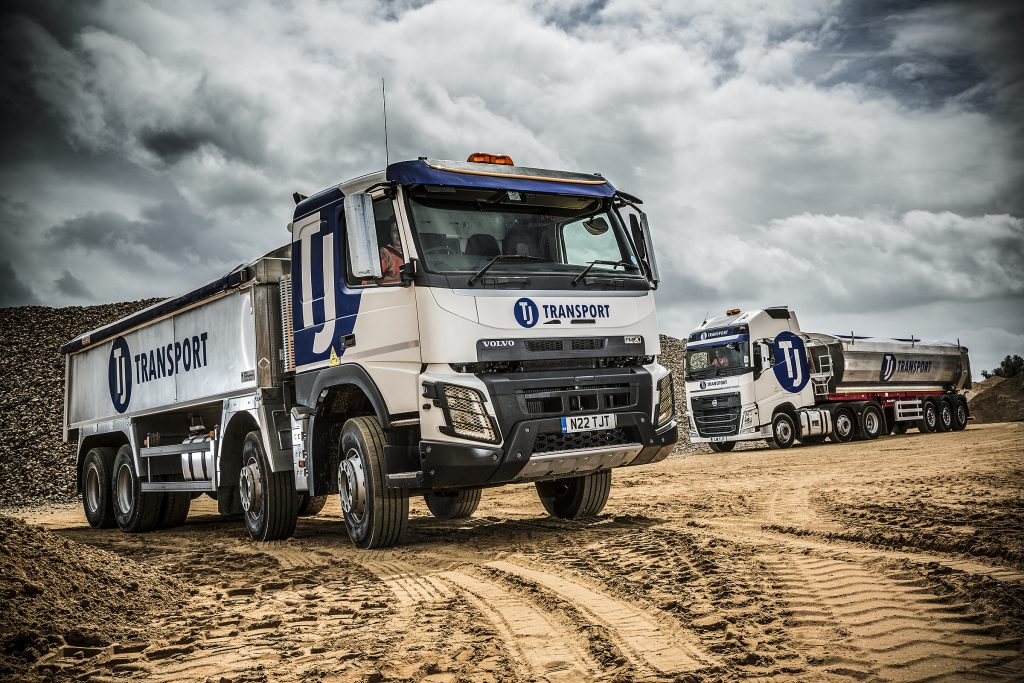 TJ Lorries at a quarry