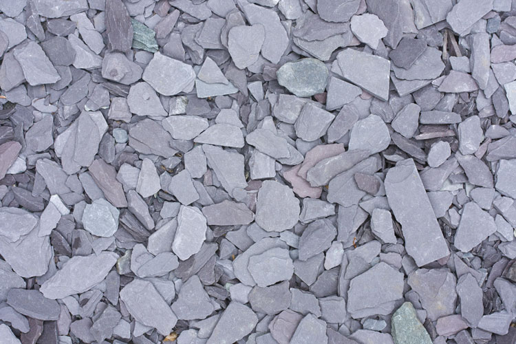 Close up of aggregate - welsh plum slate