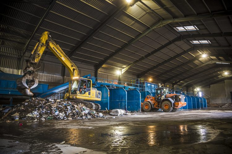 Commercial waste processing, recycling and disposal
