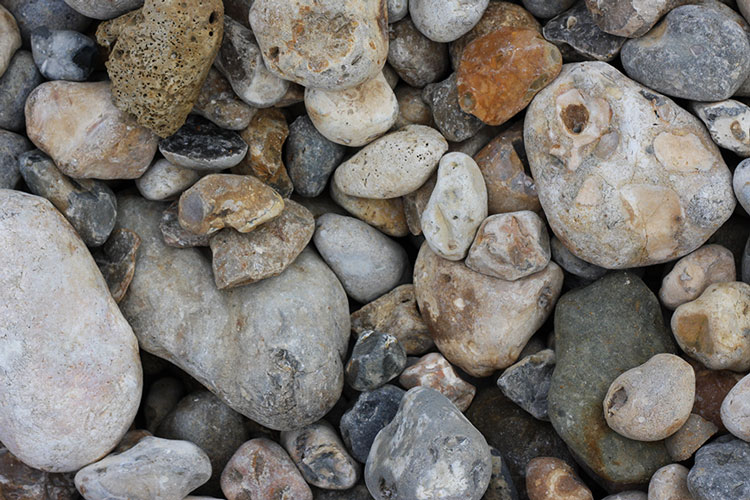 Close up of aggregate - reject gravel