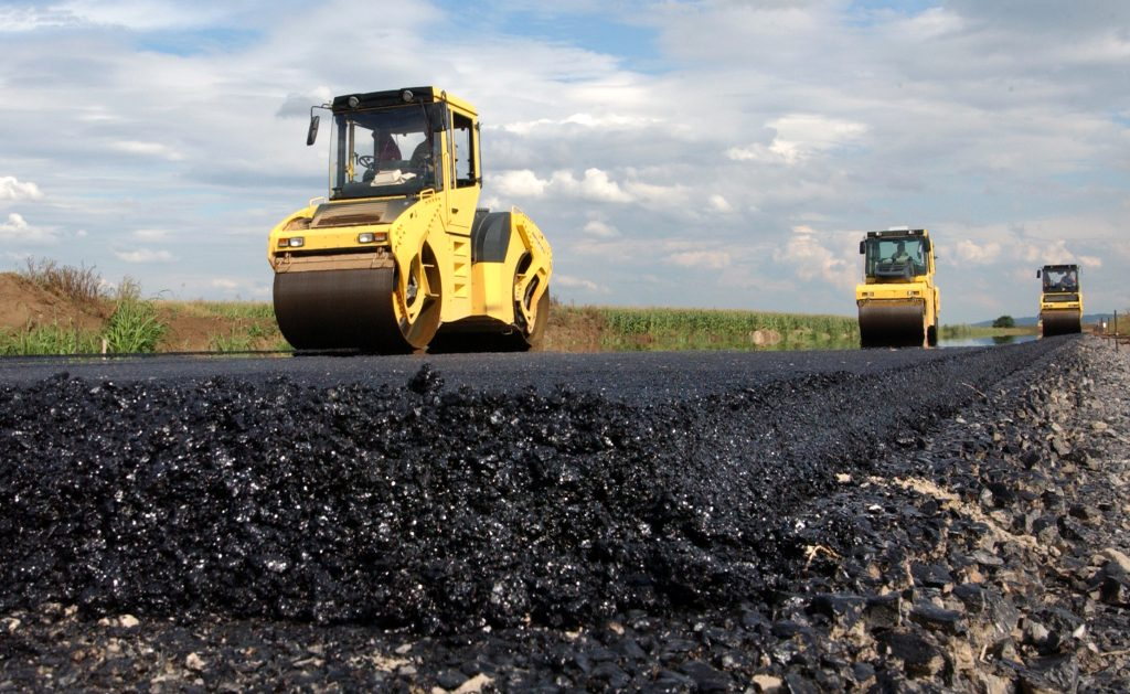 Close up of road surface layer
