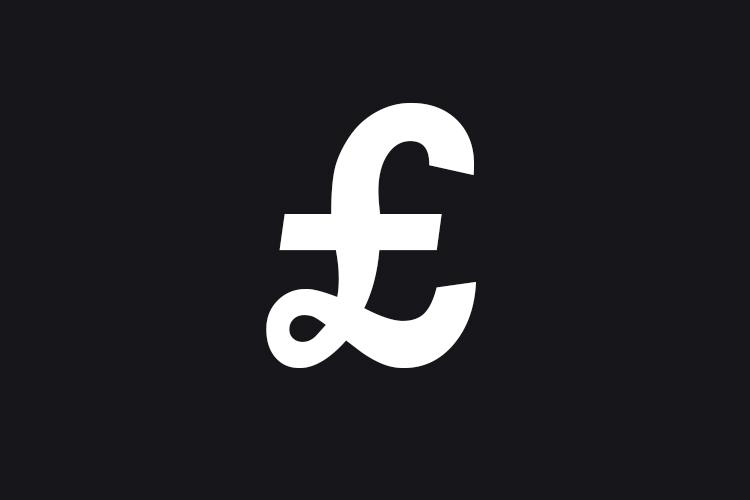 Pound sign icon for aggregates tender
