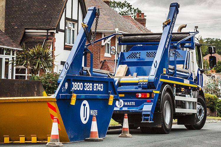 TJ Waste deliver skip to customer's home